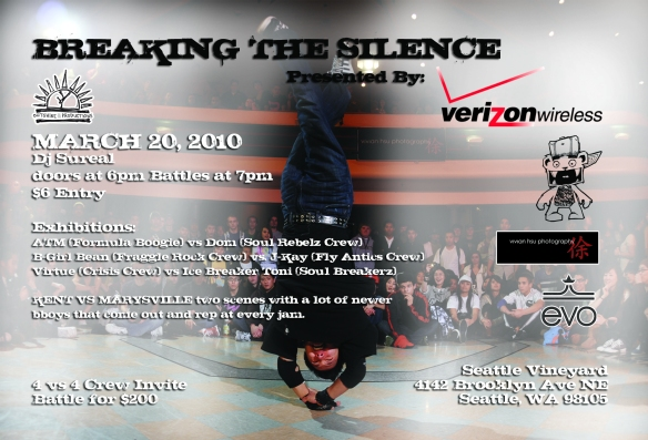 Breaking the Silence 2010 flyer