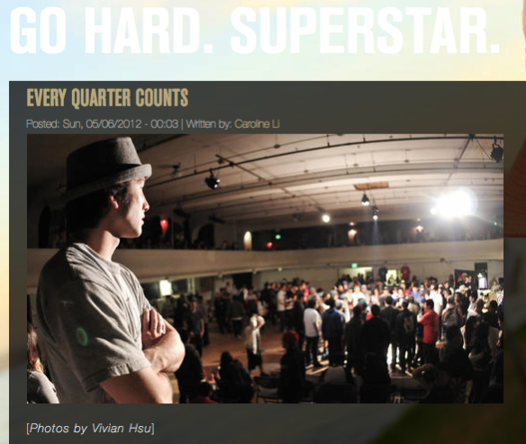 Tim Uomoto from Outshine featured in Go Hard Superstar