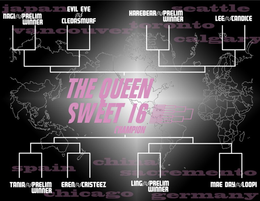 Queen Sweet 16 Brackets